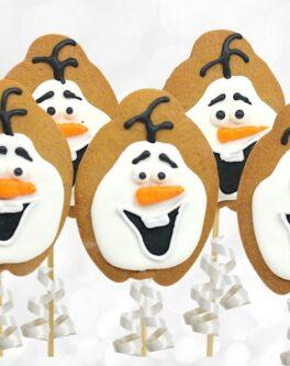 Snowman Cookie Pops