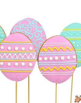Easter Egg Cookie Pops Pastel