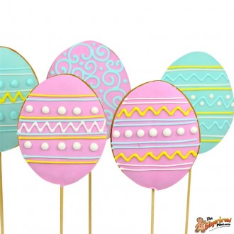Cookie pops pastel Easter eggs