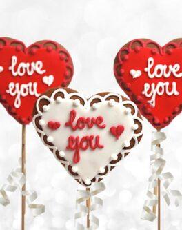 Valentines Heart Cookie Pops