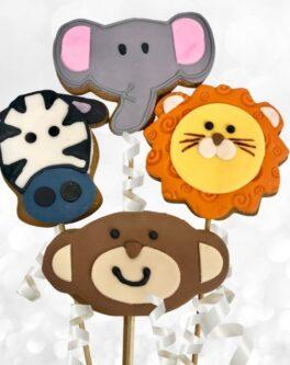 Safari Animal Cookie Pops