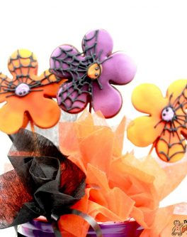 Halloween Flowers Cookie Pops