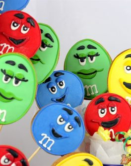 M&M Character Cookie Bouquet