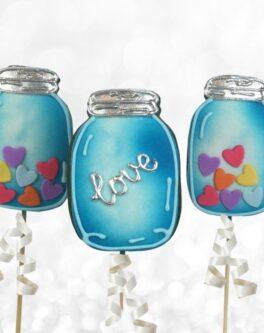 Mason Jar Cookie Pops