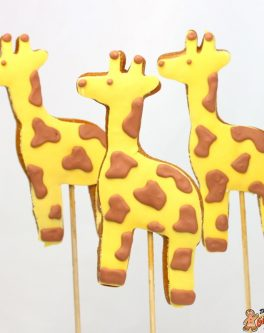 Giraffe Cookie Pops