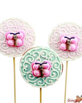 Butterfly Swirls Round Cookie Pops