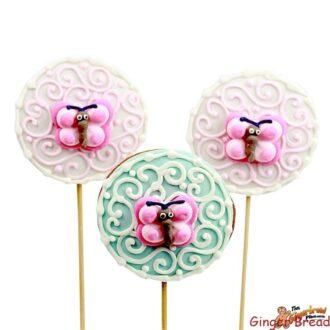 Butterfly Swirls Round Cookie Pops
