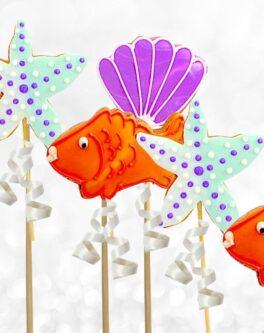 Ocean Creatures Cookie Pops