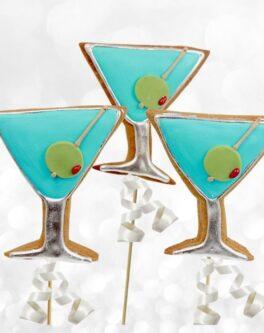 Martini Glass Cookie Pops