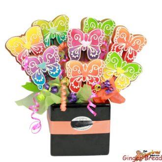 Watercolour Butterfly Cookie Bouquet
