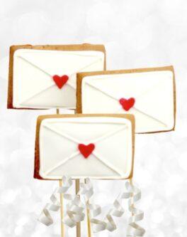 Love Letter Cookie Pops
