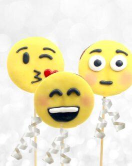 Emojis cookie pops