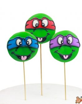 Teenage Mutant Ninja Turtle Cookie Pops