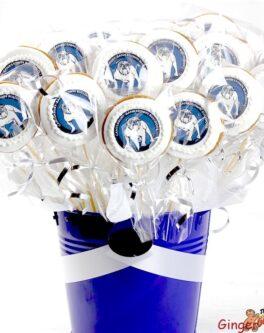 Round Logo Cookie Bouquet