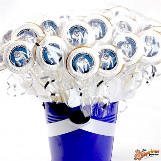 Round Logo Cookie Bouquet