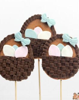 Easter Egg Basket Cookie Pops