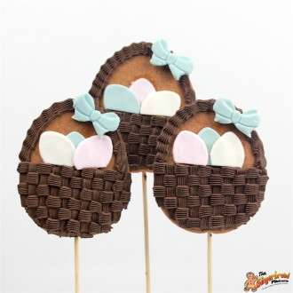 Easter Egg Basket Cookie Pops