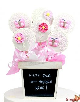 Personalised Blackboard Cookie Bouquet