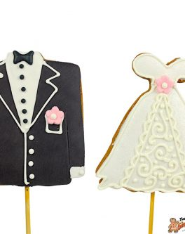 Bride, Groom Cookie Pops