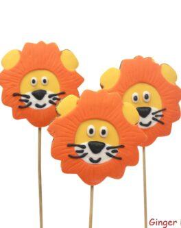 Lion Cookie Pops
