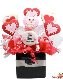 Love Owl Cookie Bouquet