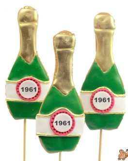 Champagne Bottle Cookie Pops