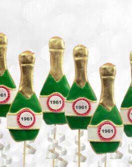Champagne Bottle Cookie Pops
