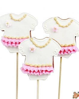 Baby Girl Vintage Romper Cookie Pops
