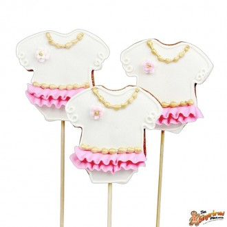 Baby Girl Vintage Romper Cookie Pops
