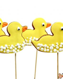 Cookie Pops ducks with bubbles