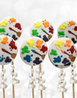 Paint Palette Cookie Pops
