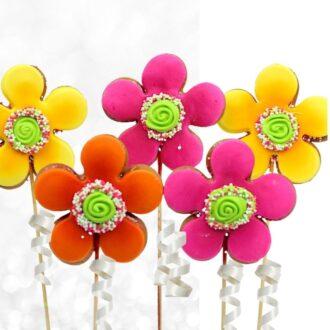 Razzle Flower Cookie Pops