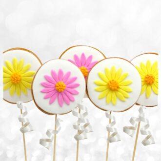Round Flower Cookie Pops
