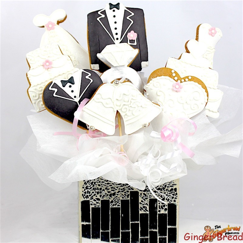 wedding cookie bouquet wedding bouquet ideal for centrepieces at your wedding 8962