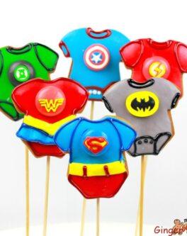 Super Hero Baby Cookie Pops