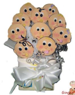 Cute Baby Face Cookie bouquet