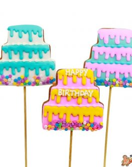 Birthday Cake cookie pops