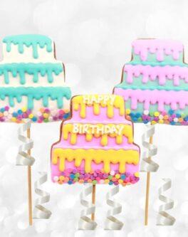 Birthday Cake cookie pops