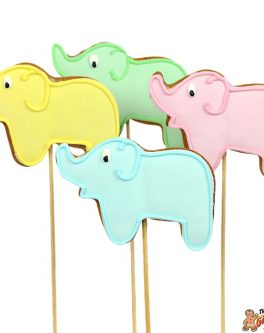 Elephant Cookie Pops