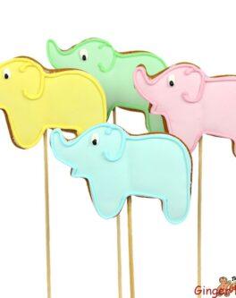 Elephant Cookie Pops