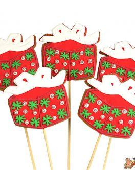 Sparkle Present Cookie Pops