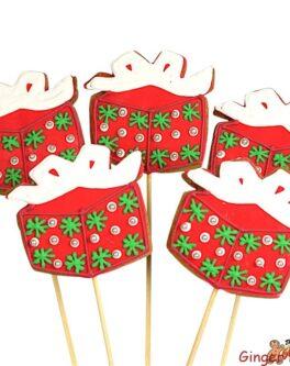 Sparkle Present Cookie Pops
