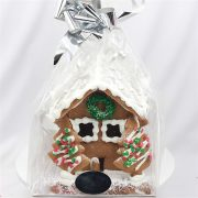 Festive Styled Gingerbread House Wrapped