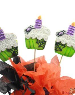 Halloween cupcake cookie pop