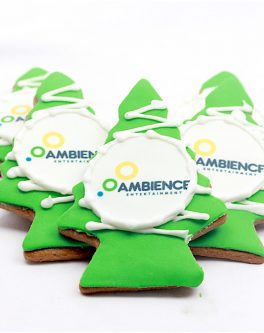 Logo Christmas Tree Cookie Favours