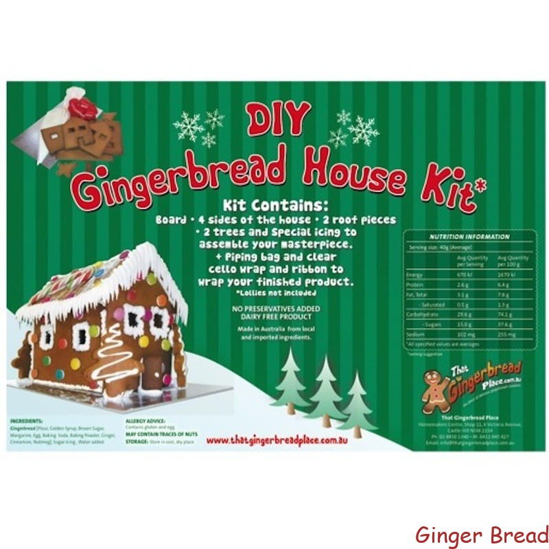 Diy Gingerbread House Kits No Preservatives Added Freshly Baked