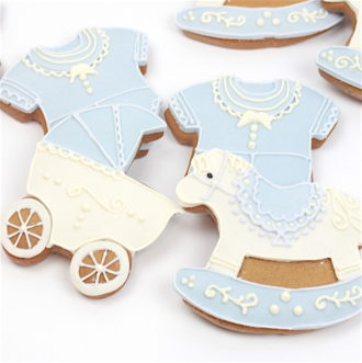 Baby Boy Cookies Mixed Box