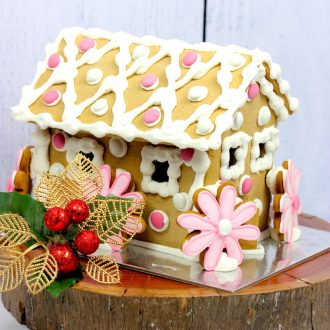 Springtime Gingerbread House