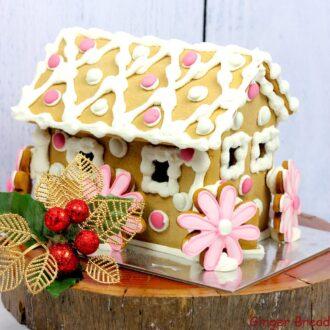 Springtime Gingerbread House