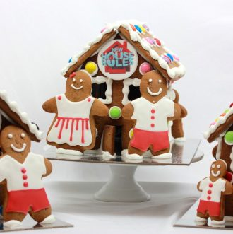 Family Gingerbread House – With logo